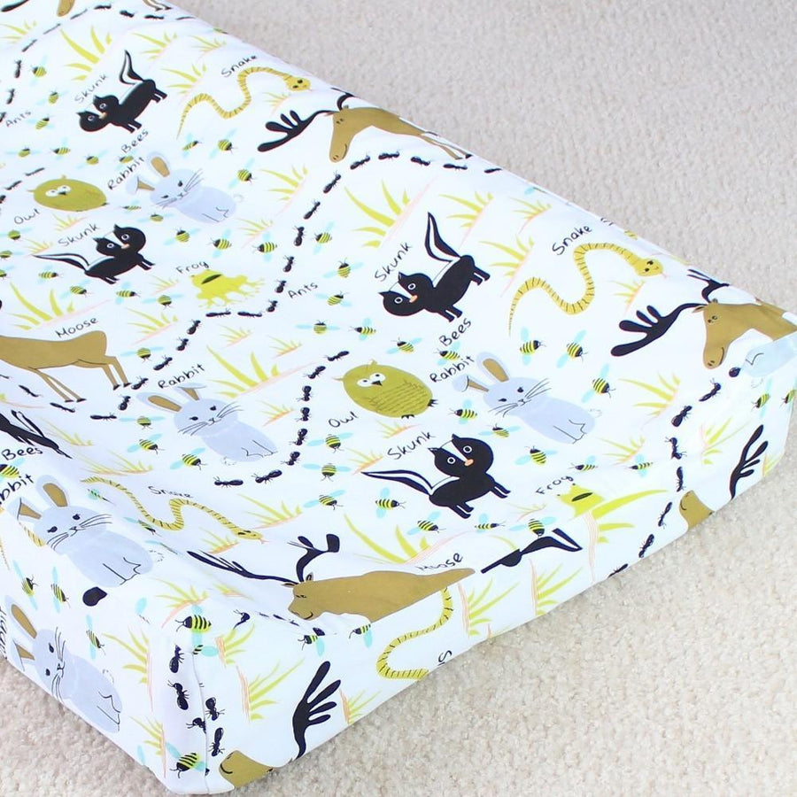 Changing Pad Cover - Woodland Animals-Changing Pad Cover-Bold Bedding-Jack and Jill Boutique