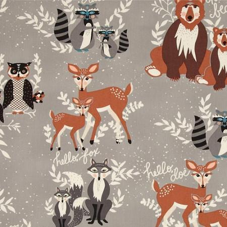 Changing Pad Cover | Woodland Oh Hello Fog-Changing Pad Cover-Default-Jack and Jill Boutique