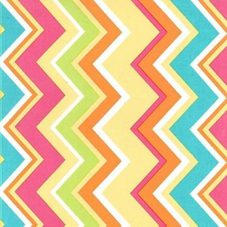 Changing Pad Cover | Yellow & Pink Chevron Sunnyside Up