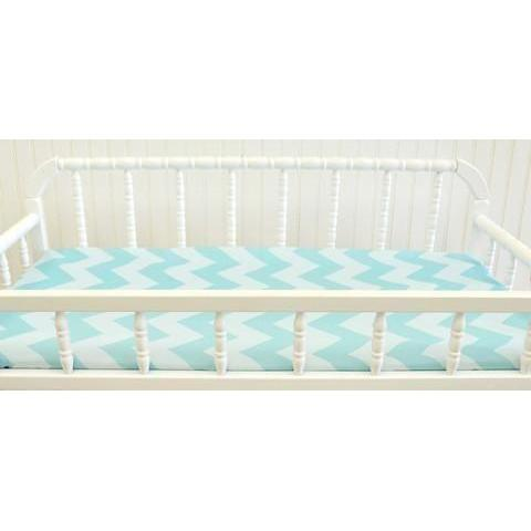 Changing Pad Cover | Zig Zag Baby in Aqua