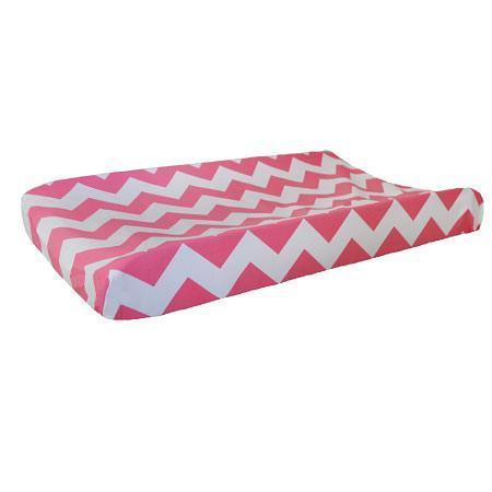 Changing Pad Cover | Zig Zag Baby in Hot Pink-Changing Pad Cover-Default-Jack and Jill Boutique