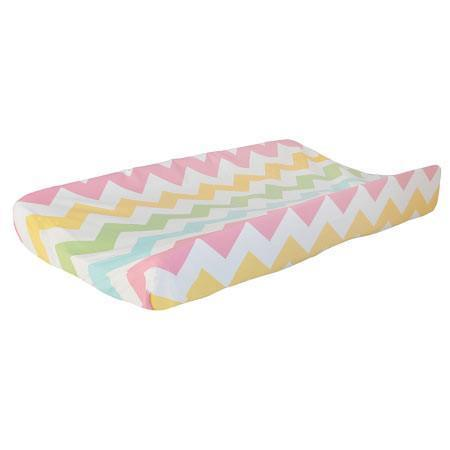 Changing Pad Cover | Zig Zag Baby in Rainbow