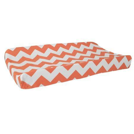 Changing Pad Cover | Zig Zag Baby in Tangerine-Changing Pad Cover-New Arrivals-Jack and Jill Boutique