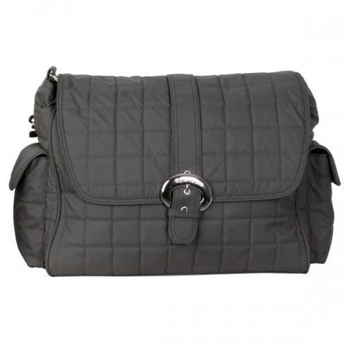 Charcoal Quilted Nylon Buckle Diaper Bag | Style 2960 - Kalencom-Diaper Bags-Default-Jack and Jill Boutique