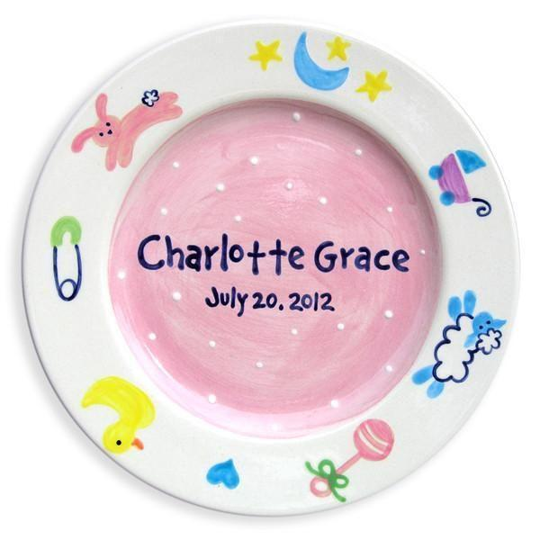 Charm Girls Hand-Painted Ceramic Plate-Ceramic Plate-Jack and Jill Boutique