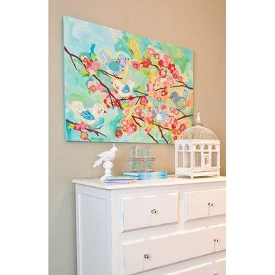 Cherry Blossom Birdies | Stretched Canvas Wall Art-Canvas Wall Art-Jack and Jill Boutique