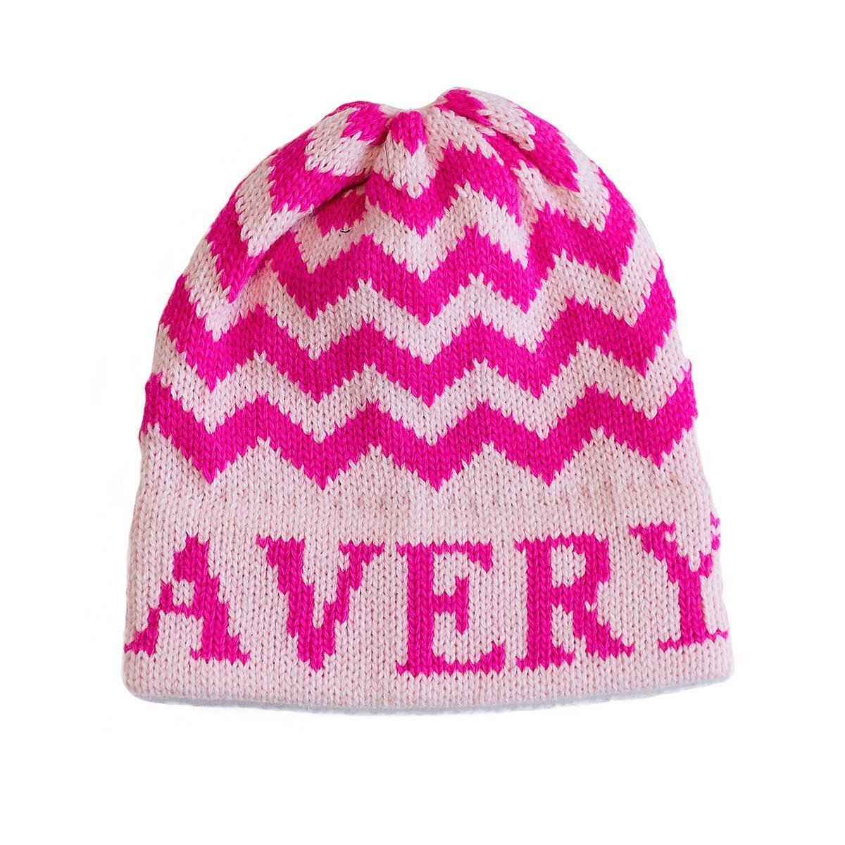 Chevron Personalized Knit Hat-Hats-Jack and Jill Boutique