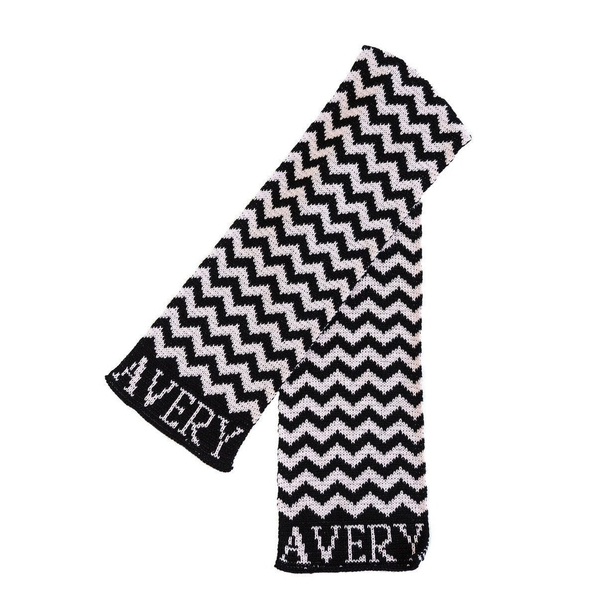Chevron Personalized Knit Scarf-Scarves-Default-Jack and Jill Boutique