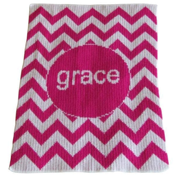 Chevron Personalized Stroller Blanket or Baby Blanket-Blankets-Jack and Jill Boutique