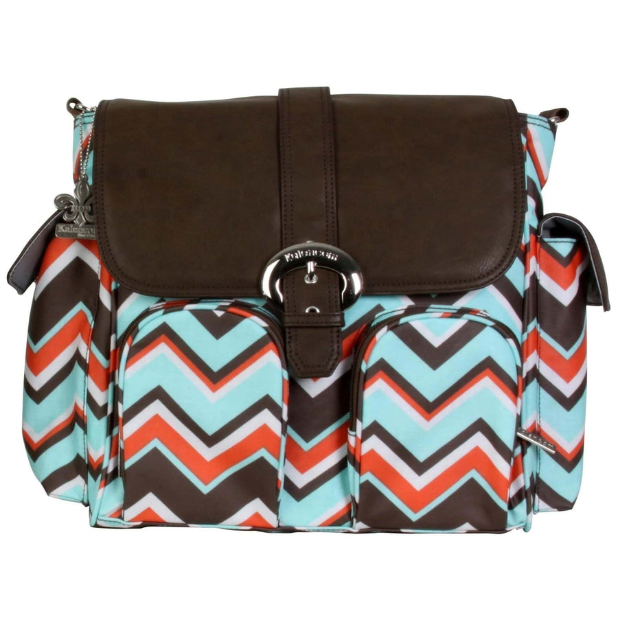 Chevron Stripes Coral Matte Coated Double Duty Diaper Bag | Style 2991 - Kalencom-Diaper Bags-Default-Jack and Jill Boutique