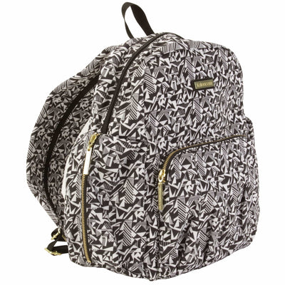 Chicago Backpack Urban Sling - Black & White Diaper Bag | Style 3002 - Kalencom-Diaper Bags-Default-Jack and Jill Boutique