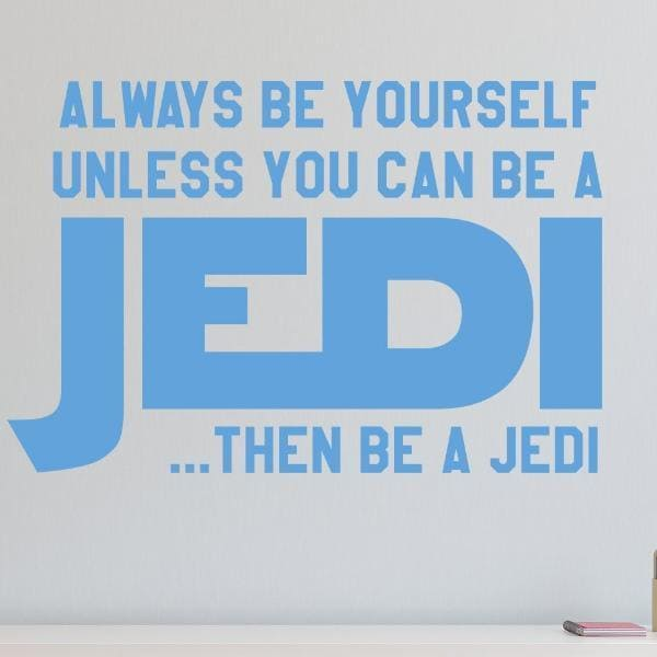 Be a Jedi Star Wars Inspired Kids Wall Decal-Decals-Jack and Jill Boutique