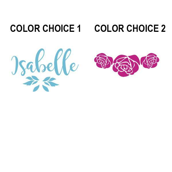Beauty Belles Roses Name Kids Wall Decal-Decals-Jack and Jill Boutique