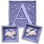 Children's Initial Set Bunnies- Resin-Wall Letter-Jack and Jill Boutique