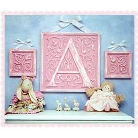 Children's Letter Plaques Resin