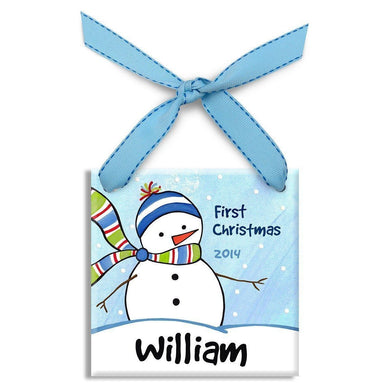 Chilly Snowman Boys Ornament