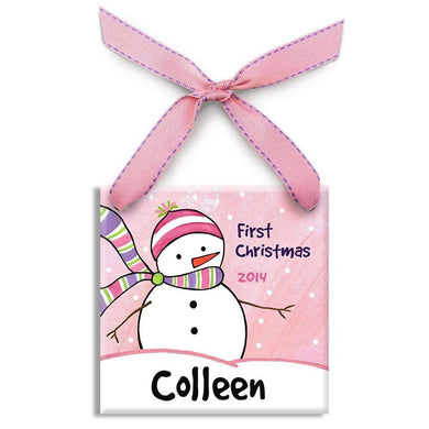 Chilly Snowman Girls Ornament