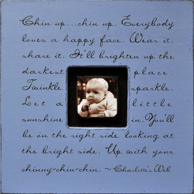 "Handmade Wood Photobox with quote ""Chin Up, Chin Up""-Photoboxes-Default-Jack and Jill Boutique"