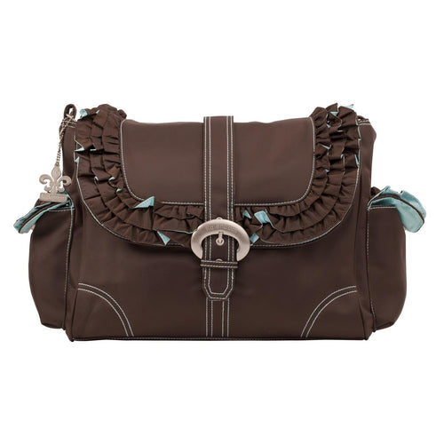Chocolate/Blue Miss Prissy Diaper Bag | Style 2960 - Kalencom-Diaper Bags-Jack and Jill Boutique