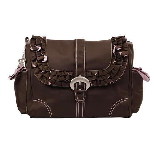 Chocolate/Pink Miss Prissy Diaper Bag | Style 2960 - Kalencom-Diaper Bags-Jack and Jill Boutique