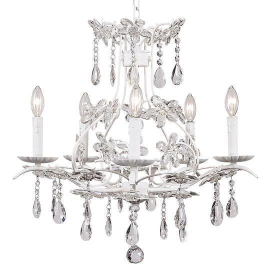 Cinderella White Five-Light Chandelier-Chandeliers-Default-Jack and Jill Boutique