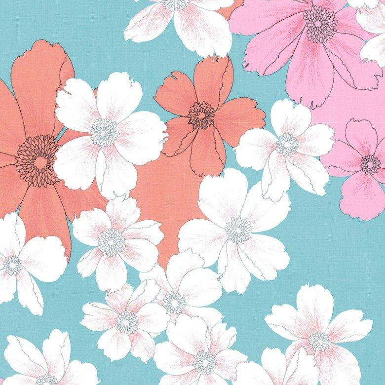 ALIYAH Aqua Fabric by the Yard | 100% Cotton-Fabric-Default-Jack and Jill Boutique