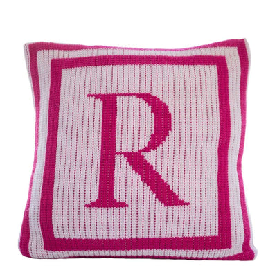 Classic Monogram Double Border Personalized Pillow-Pillow-Default-Jack and Jill Boutique