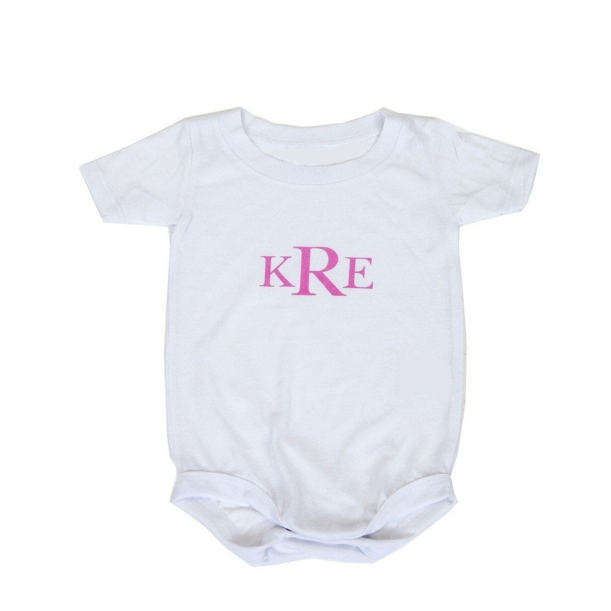 Classic Monogram Personalized Onesie-Onesie-Default-Jack and Jill Boutique