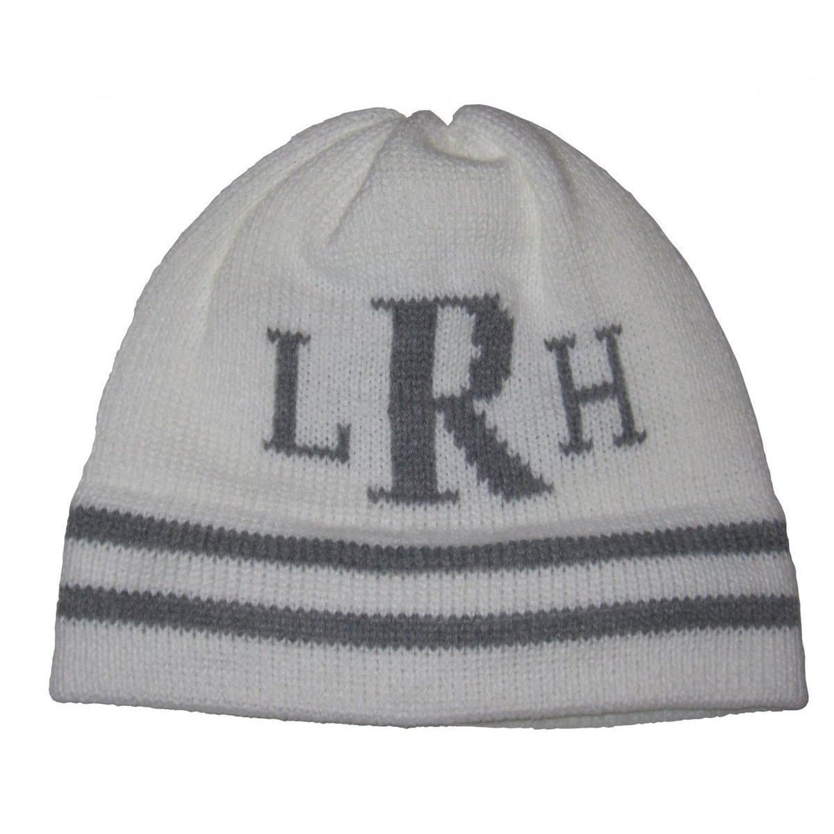 Classic Monogram & Stripes Personalized Knit Hat-Hats-Jack and Jill Boutique