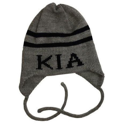 Classic Name & Stripes Personalized Knit Hat-Hats-Small-Earflaps-Jack and Jill Boutique