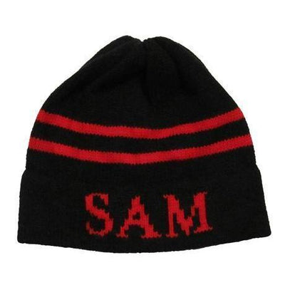 Classic Name & Stripes Personalized Knit Hat-Hats-Small-Regular-Jack and Jill Boutique