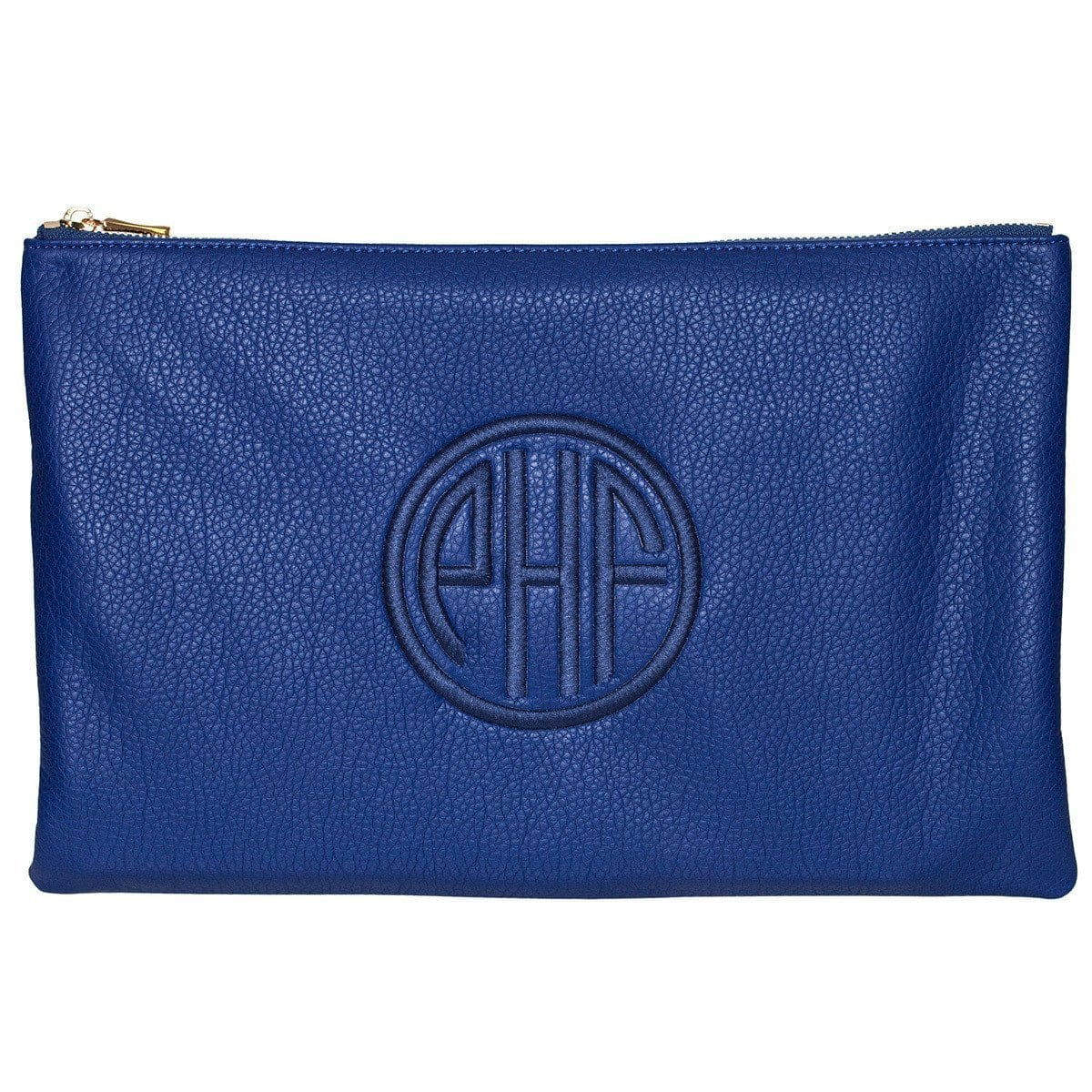 Cobalt Monogrammed Personalized Clutch-Bag-Default-Jack and Jill Boutique