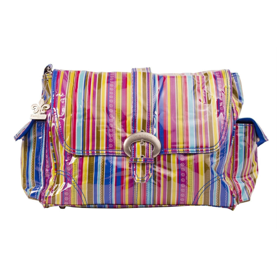 Cobalt Stripes Laminated Buckle Diaper Bag | Style 2960 - Kalencom-Diaper Bags-Default-Jack and Jill Boutique