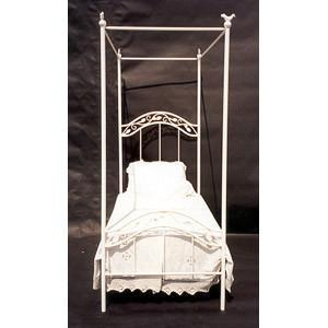 Complete Finished Canopy Bed-Brass Bed-Jack and Jill Boutique