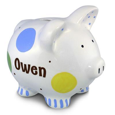 Confetti Piggy Bank (Boy) | Personalized-Piggy Bank-Jack and Jill Boutique