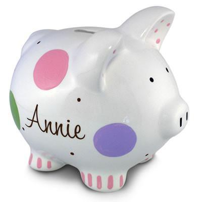 Confetti Piggy Bank (Girl) | Personalized-Piggy Bank-Jack and Jill Boutique