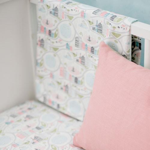 Coral In the City Baby Bedding Set-Crib Bedding Set-Default-Jack and Jill Boutique