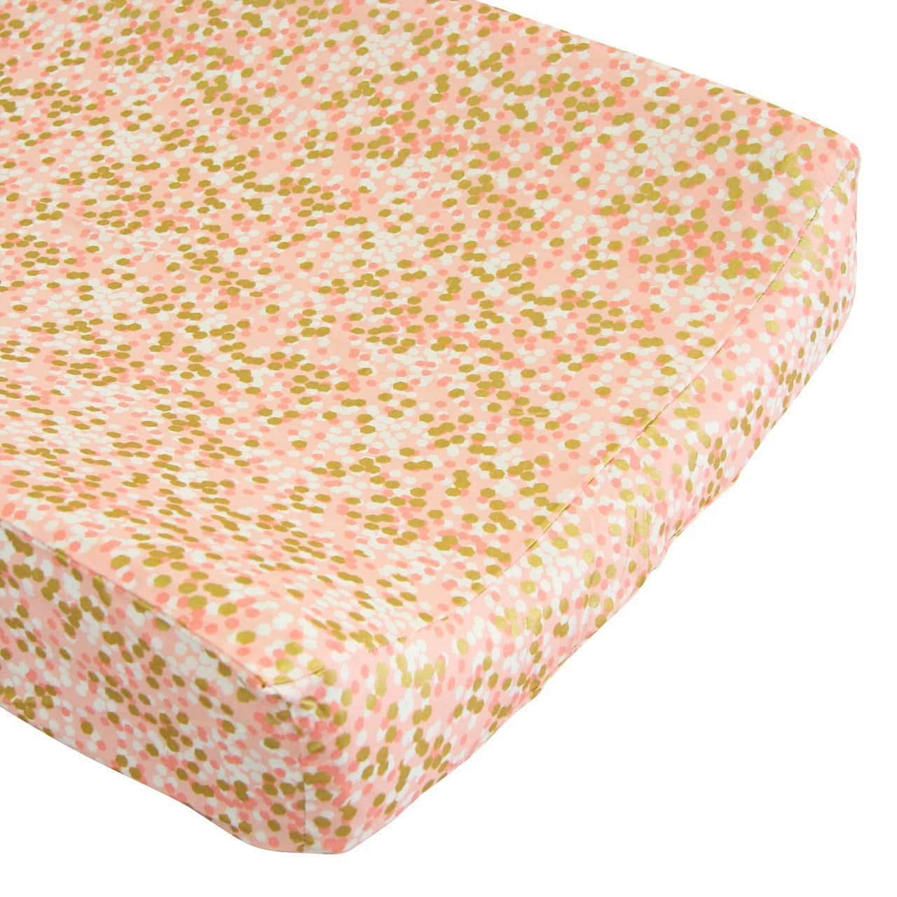 Changing Pad Cover | Coral and Gold Sparkle-Changing Pad Cover-Default-Jack and Jill Boutique