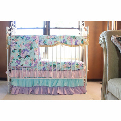 Cordelia's Girl Baby Bedding | Floral Pastel Pink Blue Lavender-Crib Bedding Set-Jack and Jill Boutique