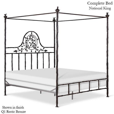 Corsican Iron Canopy Bed 2620 | Straight Canopy Twiggy Bed-Canopy Bed-Jack and Jill Boutique