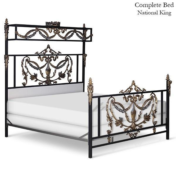 Corsican Iron Canopy Bed 41632 | French Canopy Bed with Angels & Urn-Canopy Bed-Jack and Jill Boutique