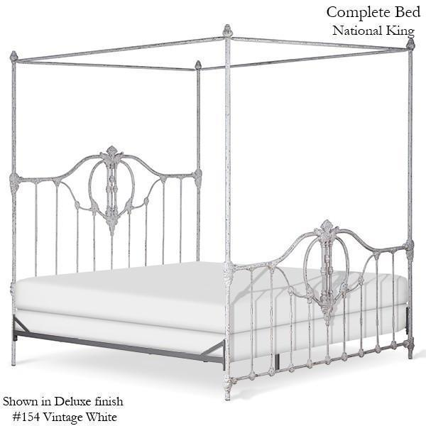 Corsican Iron Canopy Bed 41704 | Straight Canopy Bastia Bed-Canopy Bed-Jack and Jill Boutique