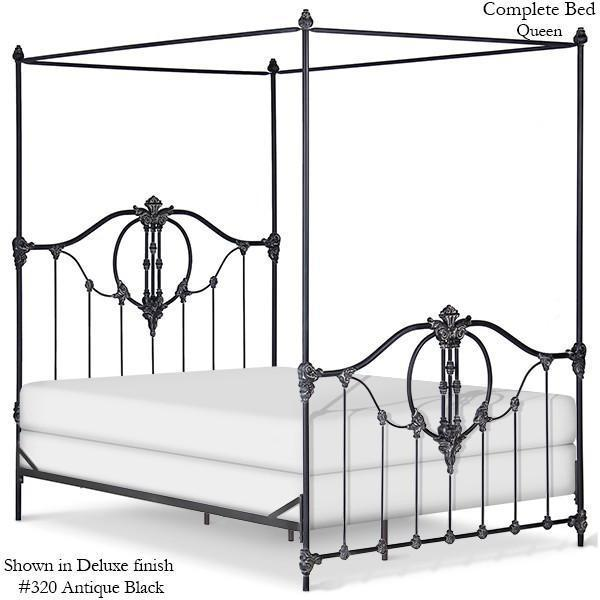 Corsican Iron Canopy Bed 41704 | Straight Canopy Bastia Bed