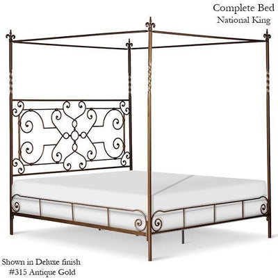 Corsican Iron Canopy Bed 41782 | Straight Canopy Bed with Scrolls-Canopy Bed-Jack and Jill Boutique