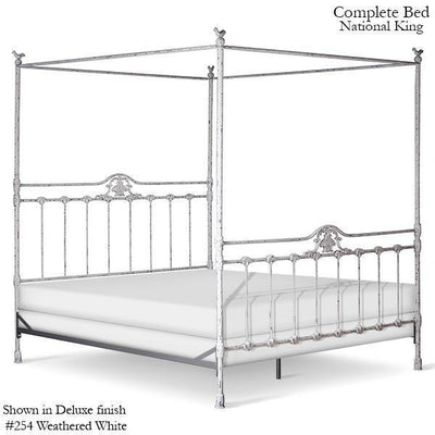 Corsican Iron Canopy Bed 42862 | Straight Canopy Bed-Canopy Bed-Jack and Jill Boutique