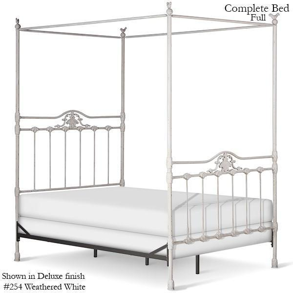 Corsican Iron Canopy Bed 42862 | Straight Canopy Bed