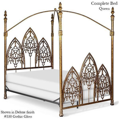 Corsican Iron Canopy Bed 43016 | Gothic Canopy Bed-Canopy Bed-Jack and Jill Boutique