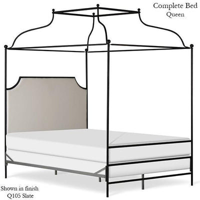Corsican Iron Canopy Bed 43152 | Olivia Double Canopy Bed with Upholstered Headboard-Canopy Bed-Jack and Jill Boutique