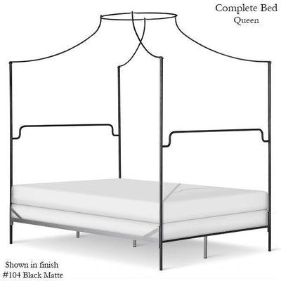 Corsican Iron Canopy Bed 43602 | Olivia Canopy Bed-Canopy Bed-Jack and Jill Boutique