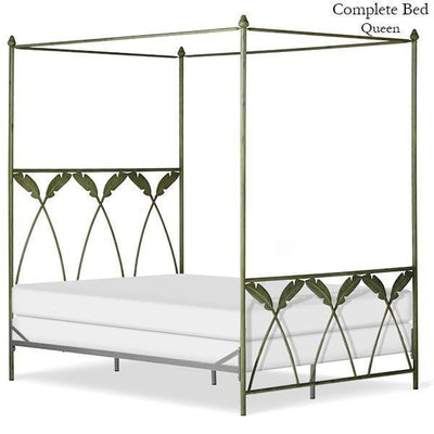 Corsican Iron Canopy Bed 43634 | Straight Canopy Palm Bed-Canopy Bed-Jack and Jill Boutique